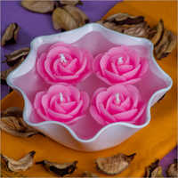 Rose Medium Pink Candles