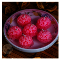 Round Rose-Pink, Strawberry pack of 6