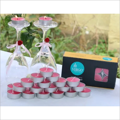 Tea Light Pink Candles