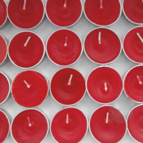 Scented Tea Light Red Candle 24 pieces