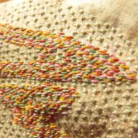 Seed Stitch Embroidery Work