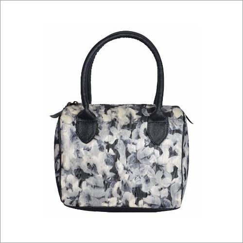 Ladies Floral Print Fabric Handbag
