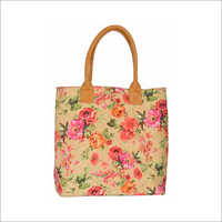 Ladies Raw Silk Shoulder Handbag