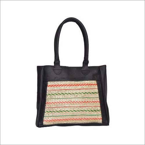 Ladies Ethnic Leatherette Handbag