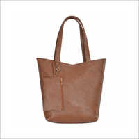 Ladies Synthetic Leather Tote Handbag