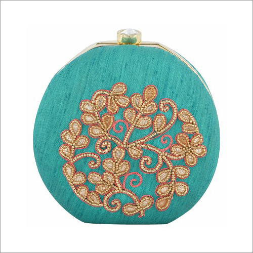 Ladies Zardosi Round Clutch