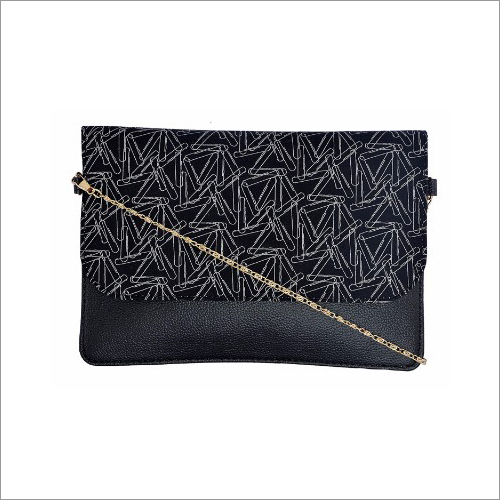 Ladies Printed Leather Clutch