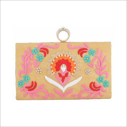 Ladies Embroidered Clutch