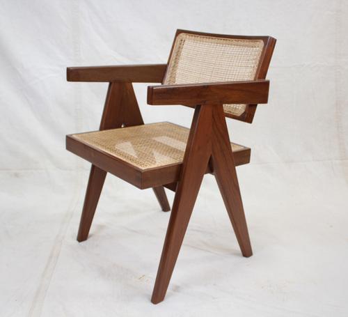 Handmade Pierre Jeanneret Floating Back Chair