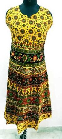Printed Cotton Jaipuri One Piece Dress