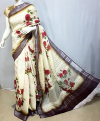 Linen ladies saree