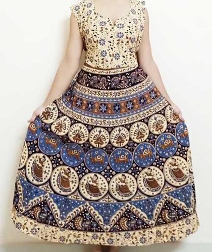 Jaipuri Printed One Piece Cotton Dress
