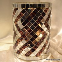 MOSAIC GLASS DECORATIVE CANDLE HOLDER
