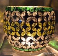 Mosaic Glass Decor Candle holder