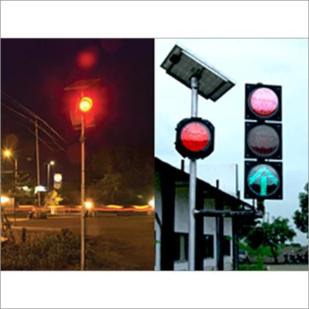Solar Blinker Traffic Light