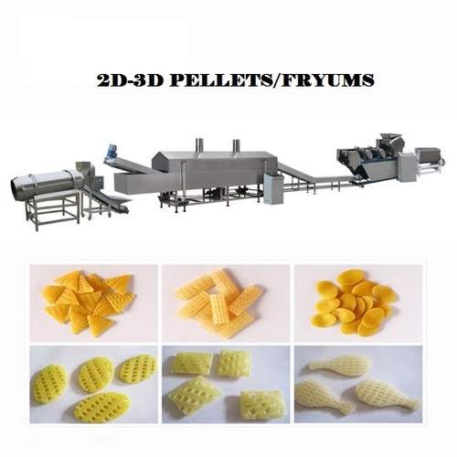 2D-3D Fryums Making Machine