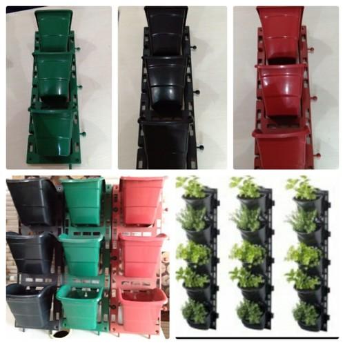 Vertical panel flower pots