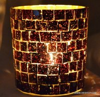 MOSAIC DECOR CANDLE HOLDER