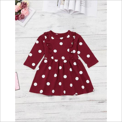 Girls Dotted Printed Frock