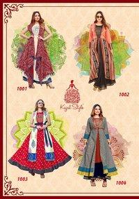 Kajal Styel Heavy Rayon Designer Long Kurtis