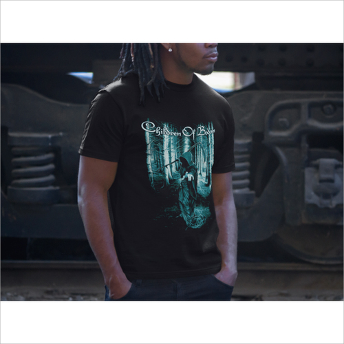Mens Black Graphic T Shirt