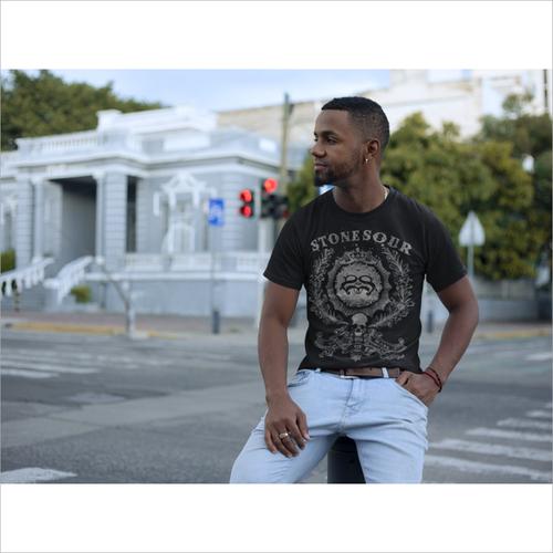 Mens Black Half Sleeve T Shirt