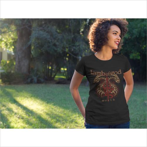 Women Crew Neck Graphic T Shirt