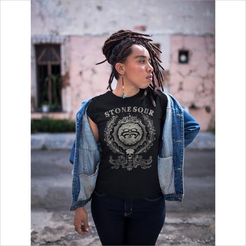 Women Black T Shirt