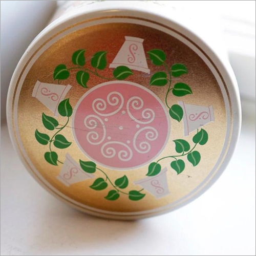 Round Printed Tin Container
