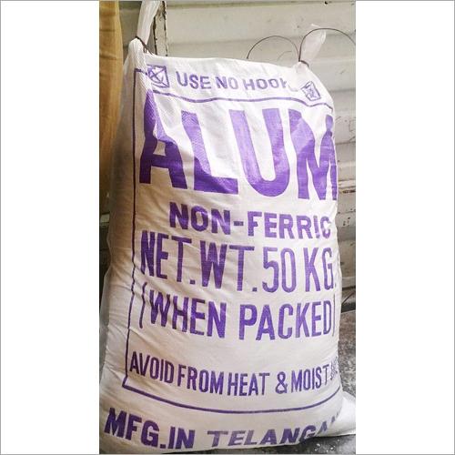 Alum Non Ferric Chemical