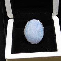 Silver aquamarine ring (woman)