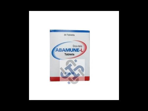 Abamune L Abacavir 600mg Lamivudine 300mg Tablets