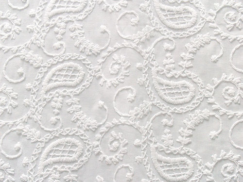 Chikankari Embroidered Fabric/Chikankari Embroidery Service