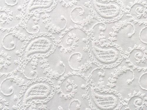 Chikankari Embroidered Fabric/Chikankari Embroidery Service