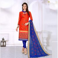 Cotton Embroidery Salawar Suit