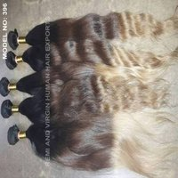 Body Wavy Ombre Colored Indian Human Hair