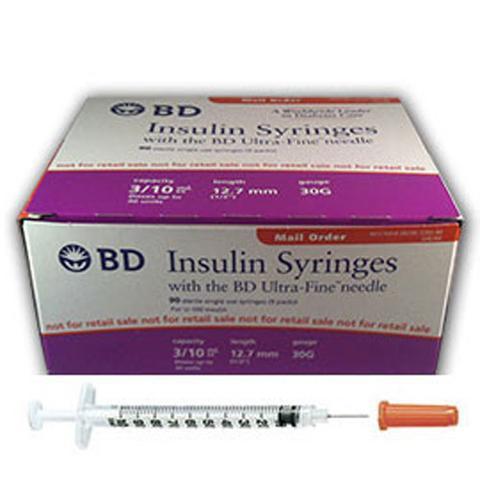 BD Insulin Syringes Ultra Fine Needle, BD Insulin Syringes Ultra
