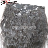 Wavy Clip In Human Hair Extensions