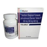 TELURA Lamivudine 300mg Tenofovir disoproxil fumarate 300mg  Efavirenz 600mg TABLETS