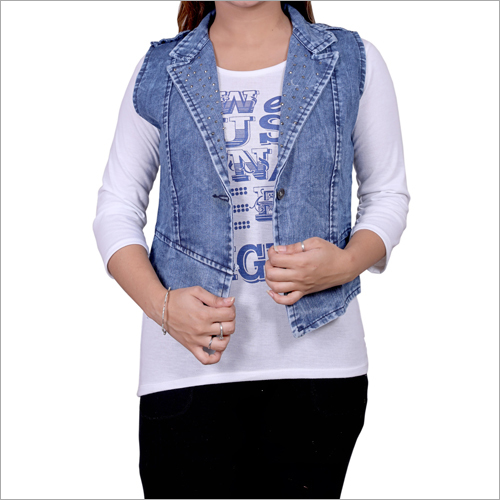 Ladies Denim Half Jacket