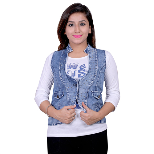 Ladies Blue Denim Jacket