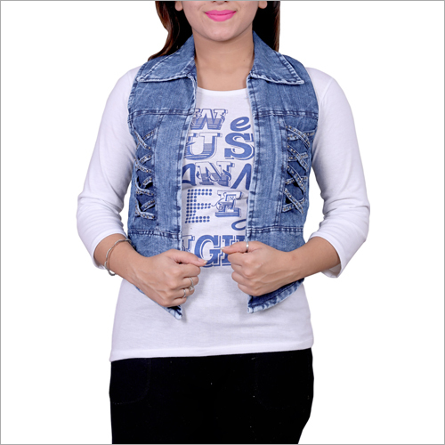 Ladies Casual Wear Denim Jacket