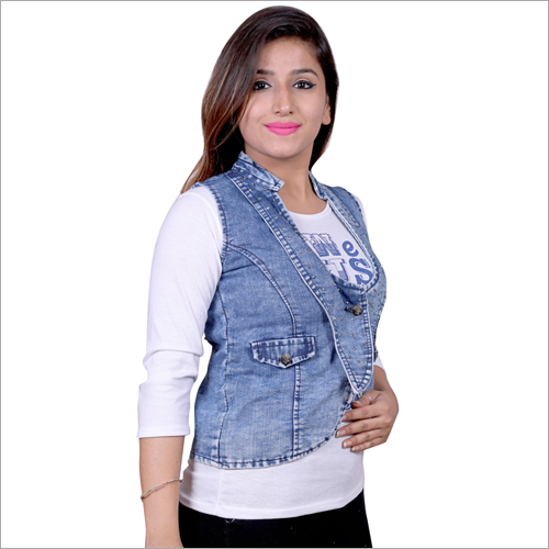 Ladies Trendy Denim Jacket