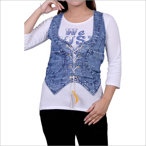 Ladies Party Wear Denim Jacket