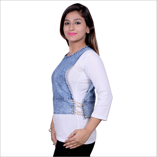 Ladies Denim Casual Top