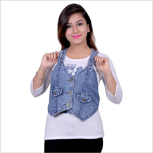 Ladies Sleeves Denim Jacket