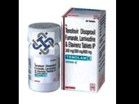 Tenolam E Lamivudine 300mg  Tenofovir disoproxil fumarate 300mg  Efavirenz 600mg TABLET