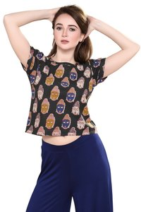 Cotton kalamkari crop top