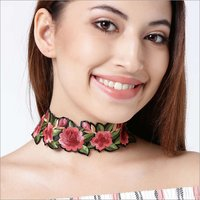 Necklaces - Rosa Plum Choker Red