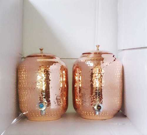 Copper Hammered Water Pots